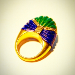 Web 3- anillo lapislazuli y malaquita