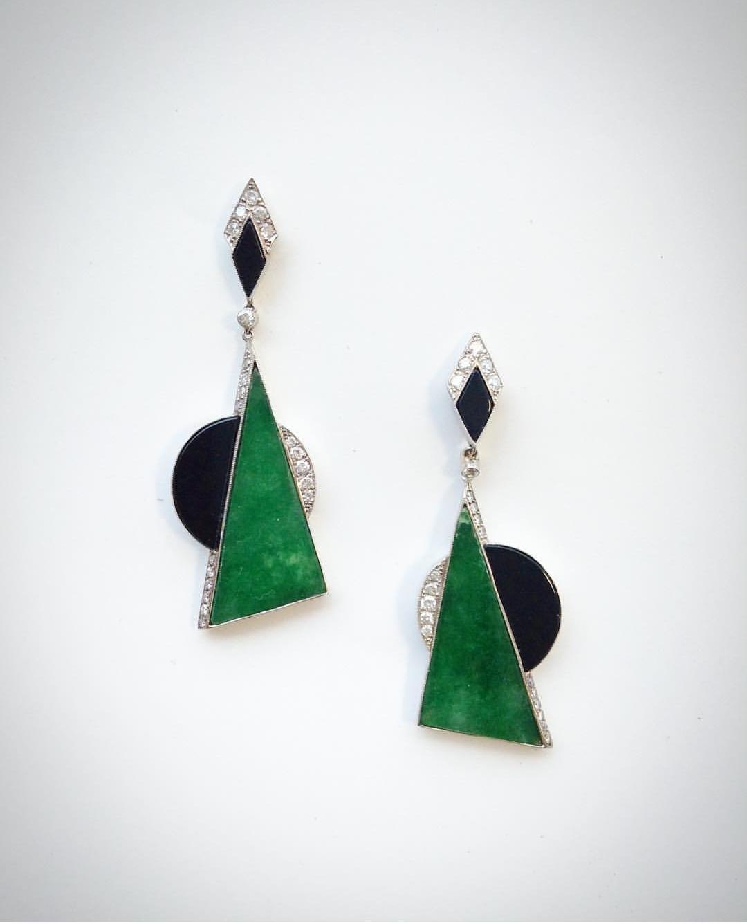 Pendientes jade y onix
